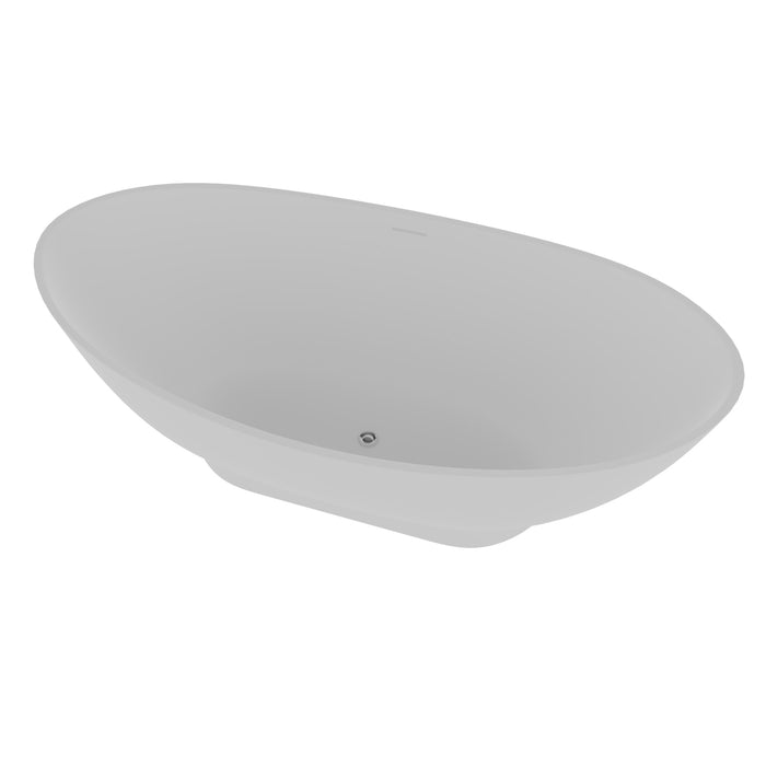 "Julianna 71"" Resin Double Slipper Tub"