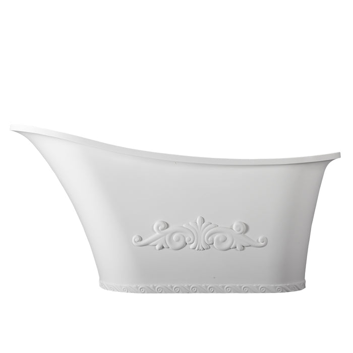 "Ayanna 59"" Resin Slipper Tub"