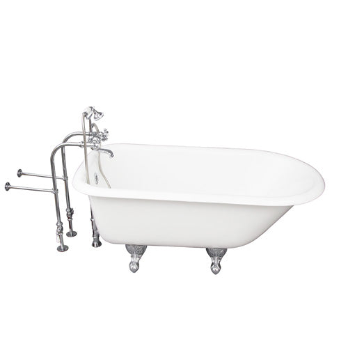 Antonio 55″ Cast Iron Roll Top Tub Kit – Polished Chrome Accessories