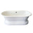 "Duet 67"" Cast Iron Double Roll Top Tub on Base"