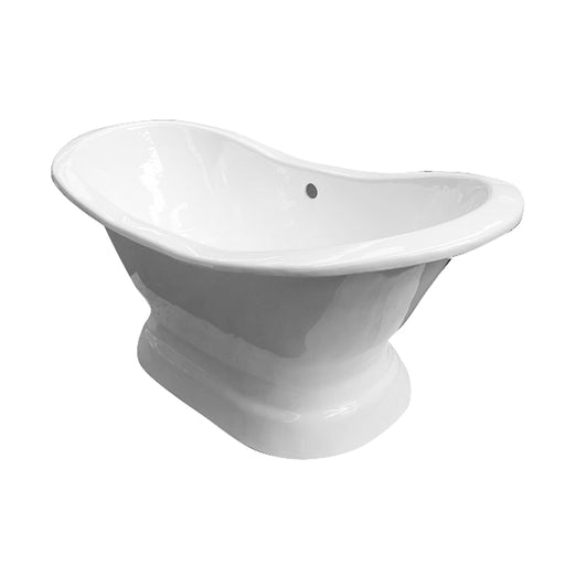 "Maren 61"" Cast Iron Double Slipper Tub on Base"