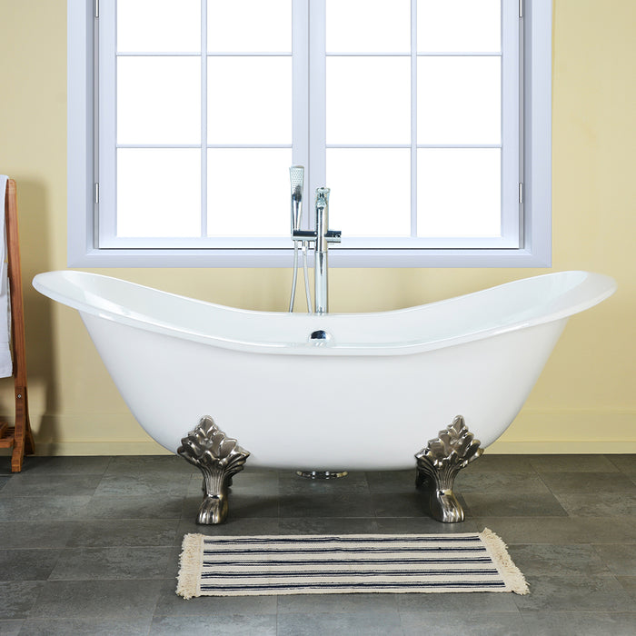 "Macon 61"" Cast Iron Double Slipper Tub"