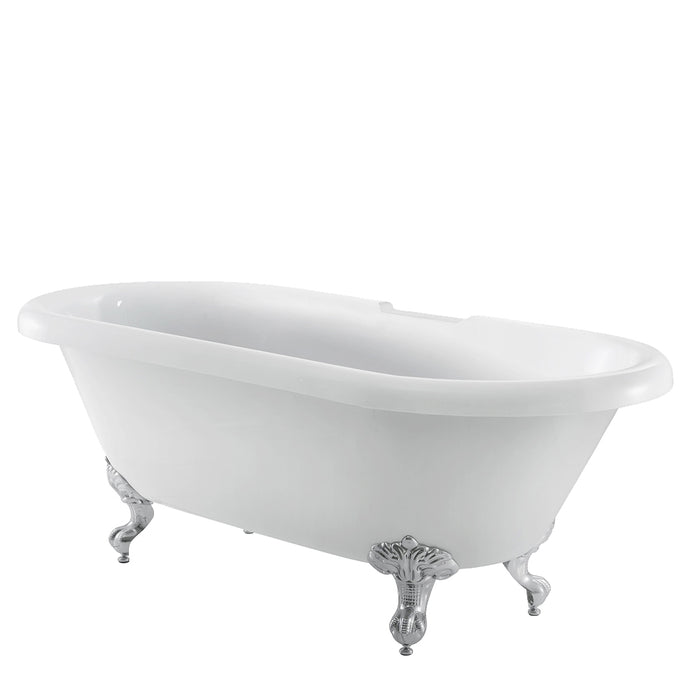 "Claudia 67"" Acrylic Double Roll Top Tub"