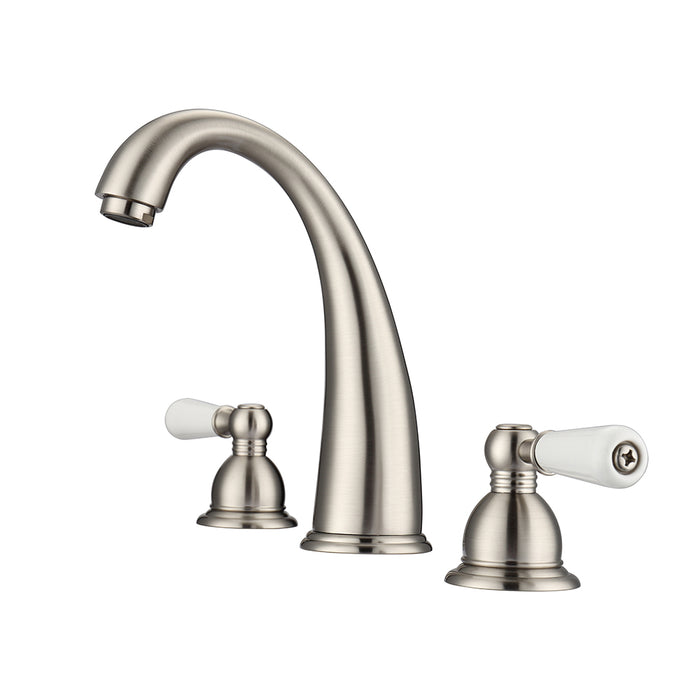 Maddox Widespread Lavatory Faucet with Porcelain Lever Handles
