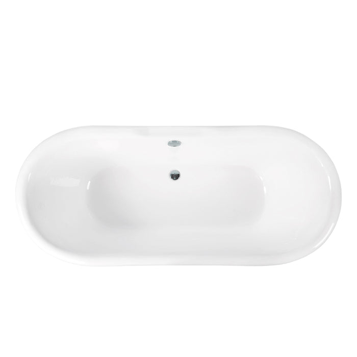 "Maurice 71"" Cast Iron Double Slipper Tub"