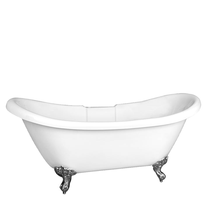 "Monique 69"" Acrylic Double Slipper Tub"
