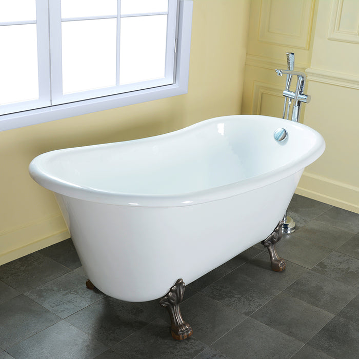"Kirkland 67"" Cast Iron Slipper Tub"