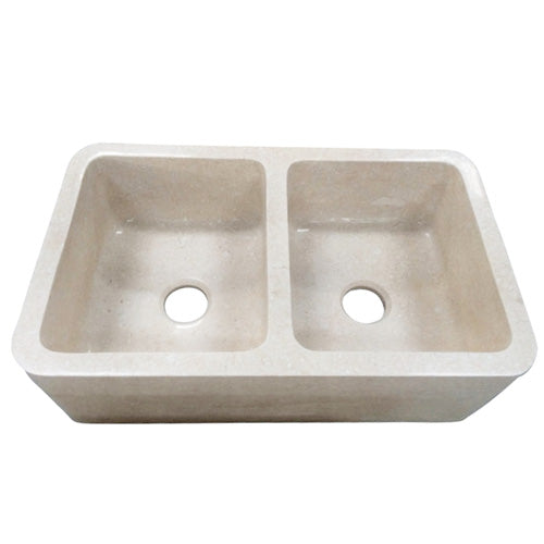 Chicot Double Bowl Marble Farmer Sink