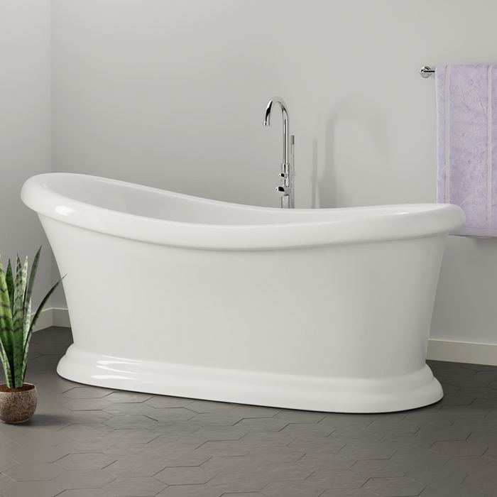 "Mallory 68"" Acrylic Slipper Tub"