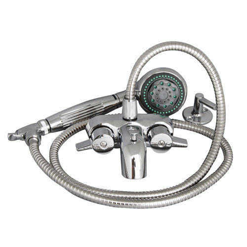 Clawfoot Tub Filler – Wall Mounted Faucet with 5 Function Hand Shower