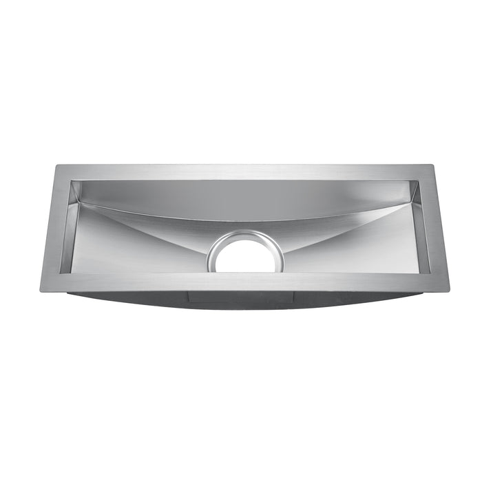 "22"" Vedette Curved Stainless Steel Prep Sink"
