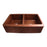 "35"" Port Double Bowl Copper Farmer Sink"