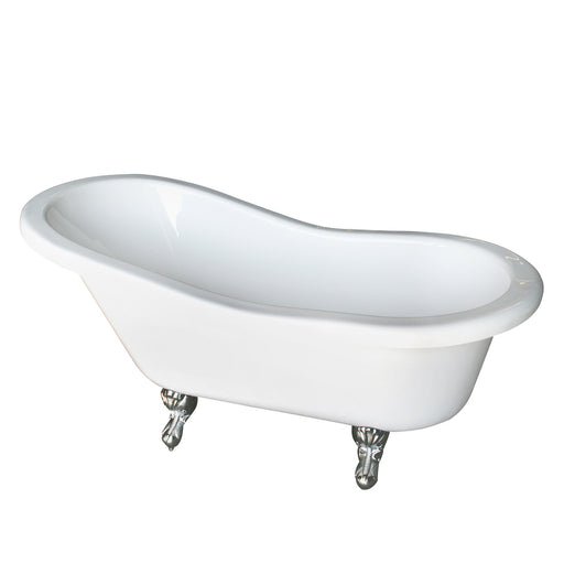 "Fillmore 60"" Double Acrylic Slipper Tub"