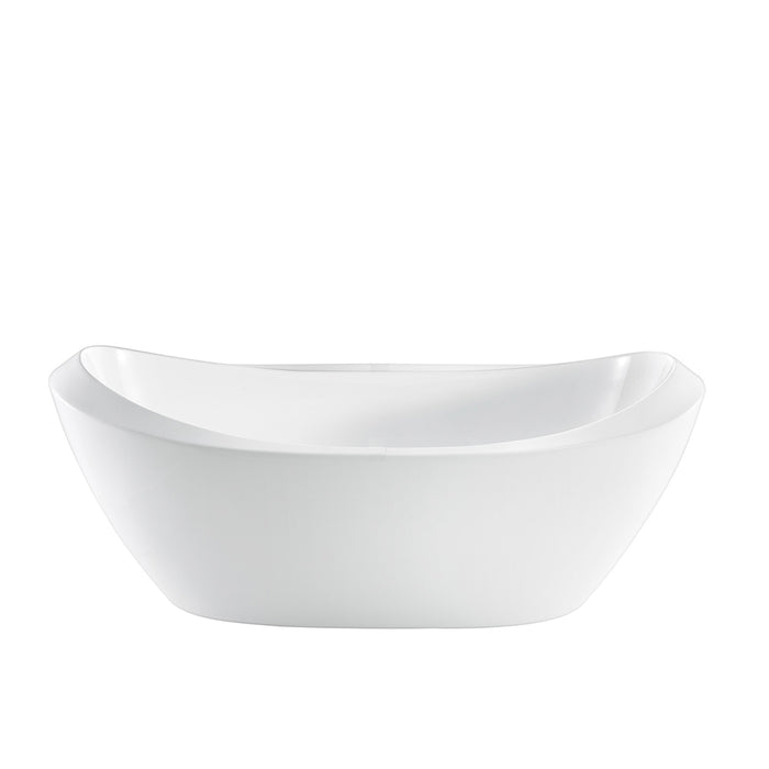 "Naomi 67"" Acrylic Double Slipper Tub"