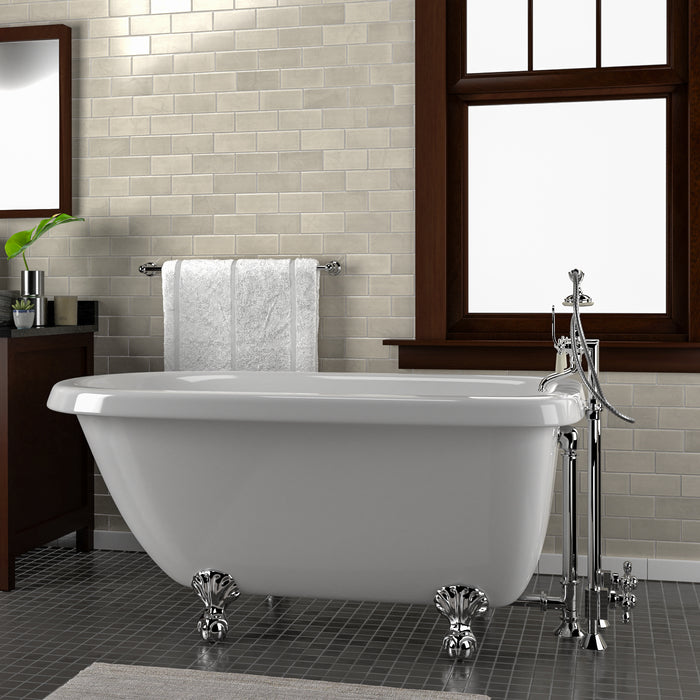 "Alexia 54"" Acrylic Roll Top Tub"