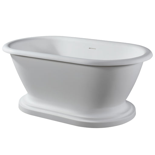 "Wingate 59"" Resin Freestanding Tub on Base"