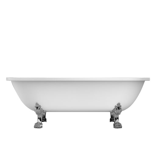 "Colin 70"" Acrylic Double Roll Top Tub"