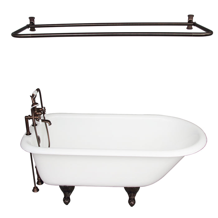 Cadmus 68″ Cast Iron Roll Top Tub Kit – Oil Rubbed Bronze Accessories
