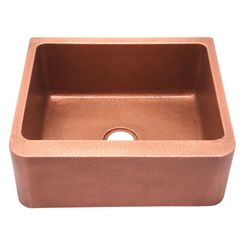 Avena Single Bowl Copper Farmer Sink