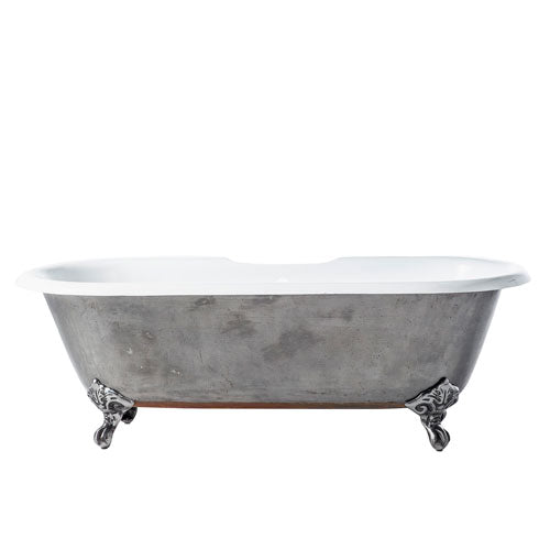 "Doyle 67"" Cast Iron Double Roll Top Tub"