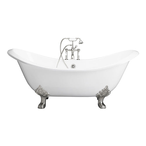Marshall 71″ Cast Iron Double Slipper Tub Kit – Polished Chrome Accessories