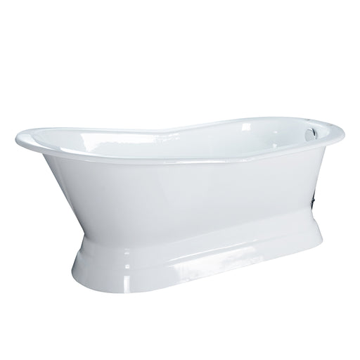 "Lyndsey 68"" Cast Iron Slipper Tub on Base"