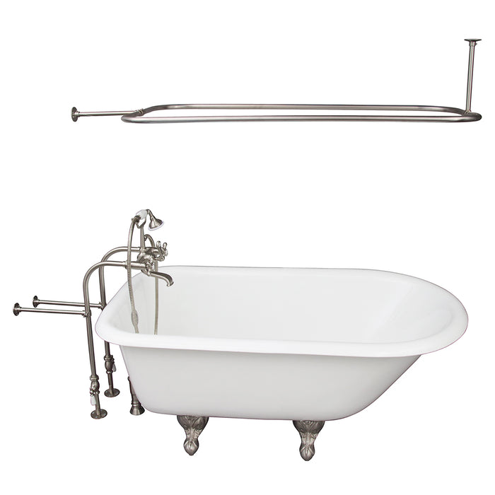 Antonio 55″ Cast Iron Roll Top Tub Kit – Brushed Nickel Accessories