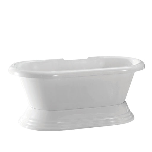 "Calypso 60"" Acrylic Double Roll Top Tub on Base"