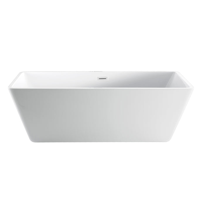 "Siren 64"" Acrylic Tub with Integral Drain and Overflow"