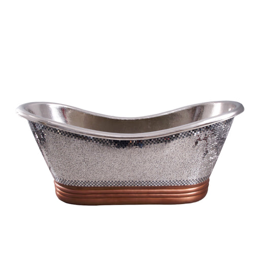 Galileo 72″ Copper Double Slipper Tub