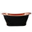 "Chapal 70"" Copper Double Slipper Tub on Base"