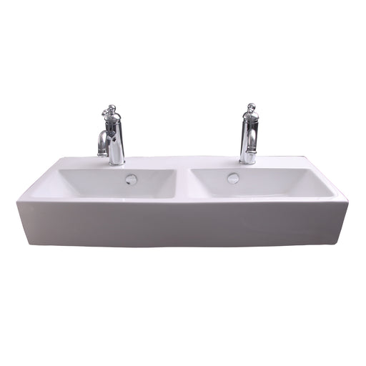 Winfield Double Bowl Wall-Hung Basin