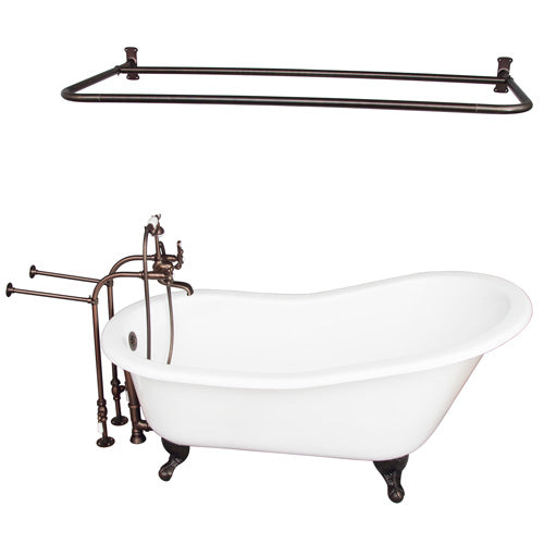 Griffin 61″ Cast Iron Slipper Tub Kit – Oil Rubbed Bronze Accessories