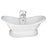 Marshall 72″ Cast Iron Double Slipper Tub Kit – Polished Chrome Accessories