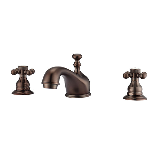 Marsala Widespread Lavatory Faucet with Button Cross Handles