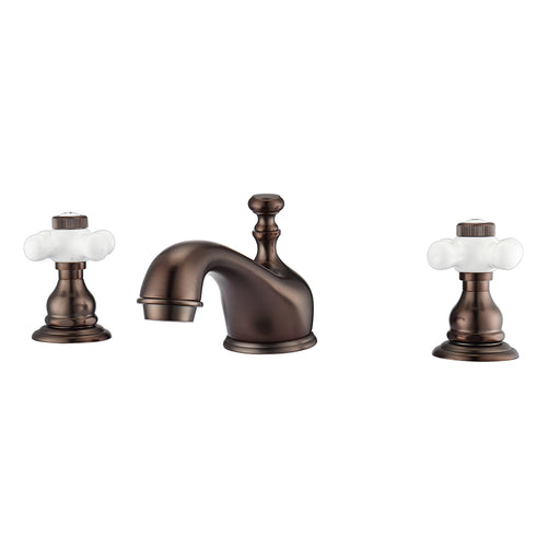 Marsala Widespread Lavatory Faucet with Porcelain Cross Handles