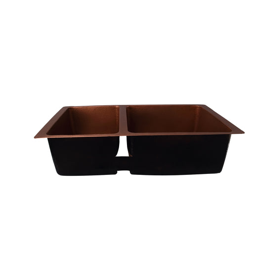Sonora Double Bowl Copper Undermount Kitchen Sink