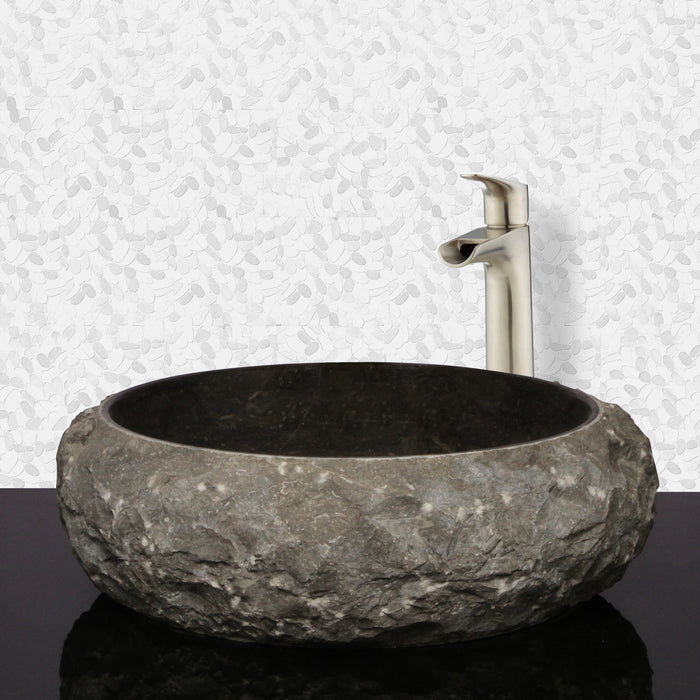 LaPaz Chiseled Above Counter Marble Basin