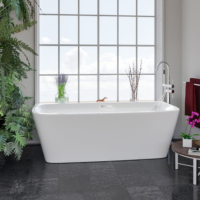 "Vincent 71"" Acrylic Tub with Integral Drain and Overflow"
