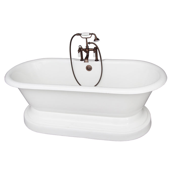 Duet 67″ Cast Iron Double Roll Top Tub Kit – Oil Rubbed Bronze Accessories