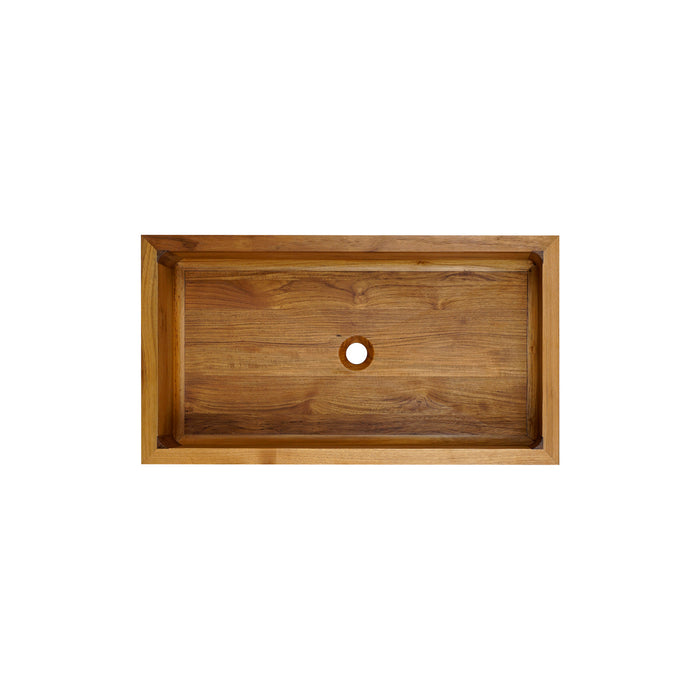 Kolea Frame Front Single Bowl Teak Farmer Sink