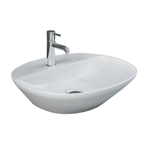 Variant Oval Above Counter Basin with Faucet Hole