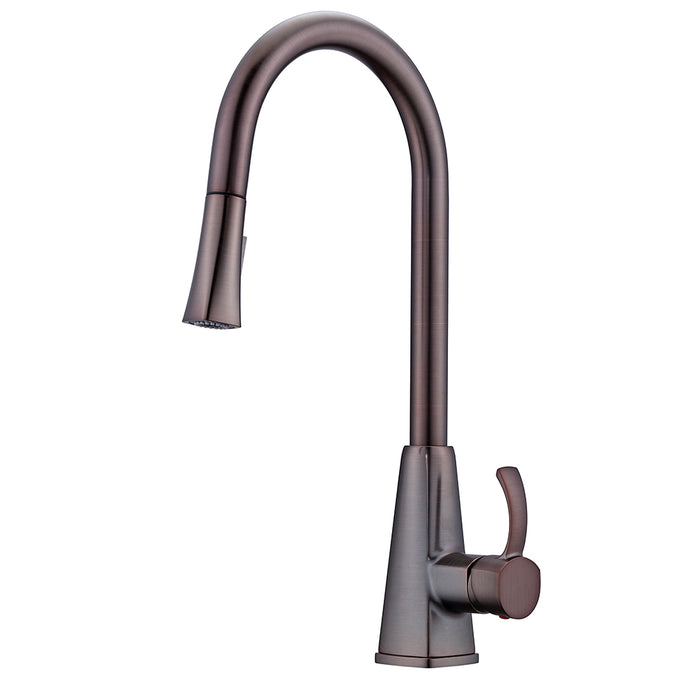 Christabel Single Handle Kitchen Faucet with Pull-Down Spray