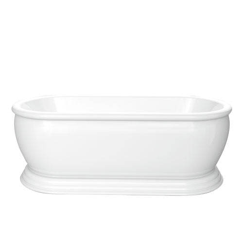 "Claremont 69"" Acrylic Double Roll Top Tub on Base"