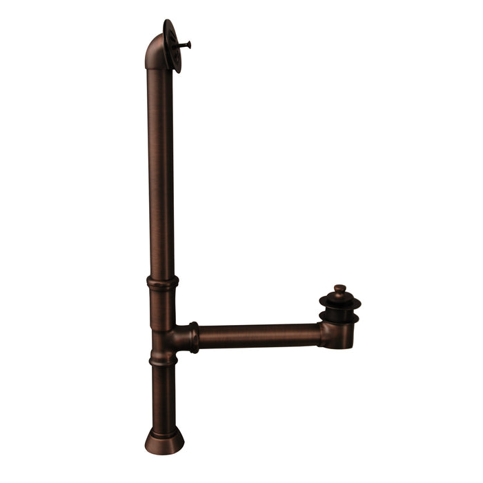 Atlin 67″ Acrylic Roll Top Tub Kit in White – Oil Rubbed Bronze Accessories