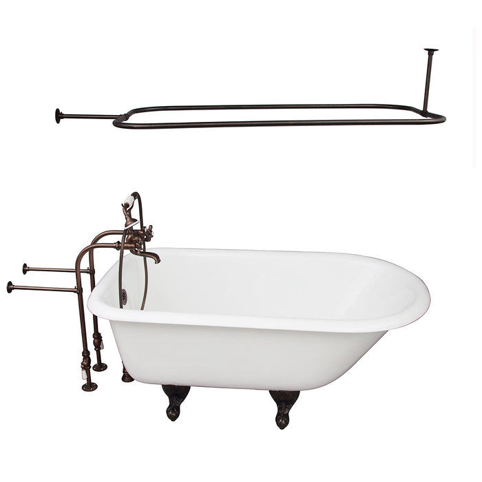 Antonio 55″ Cast Iron Roll Top Tub Kit – Oil Rubbed Bronze Accessories