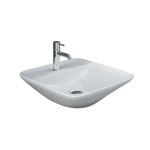 Variant Square Above Counter Basin with Faucet Hole