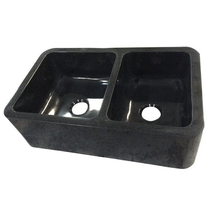 Aubrey Double Bowl Reversible Granite Farmer Sink