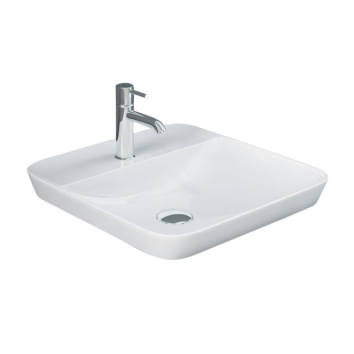 Variant Square Drop-In Basin with Faucet Hole