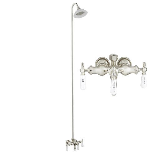 Tub/Shower Converto Unit – Diverter Faucet, Old Style Spigot, Sunflower Showerhead for Cast Iron Tub